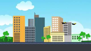 Background Video Pembelajaran | Animasi Pemandangan Kota FULL HD - YouTube