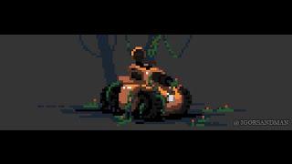 Pixel Art Demo : Abandoned Tank (260/365)