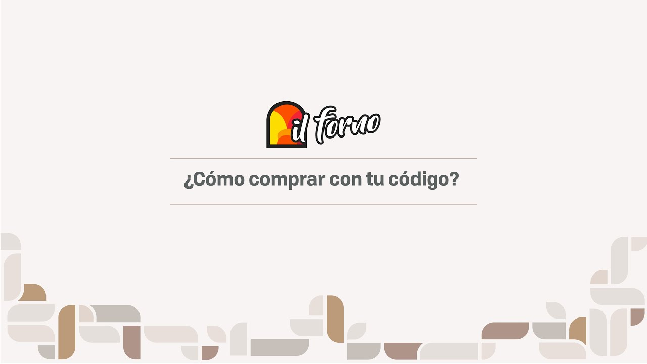 ¿Cómo comprar desde el celular con tu código Juntos en il forno?