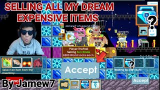 """Selling All My Dream Expensive Items"" Howmany Blue Gem Locks!? (TRADING ONLY!) 