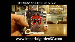 Case Break #717: 12 Box 17-18 Upper Deck Series 1 HOBBY CASE BREAK