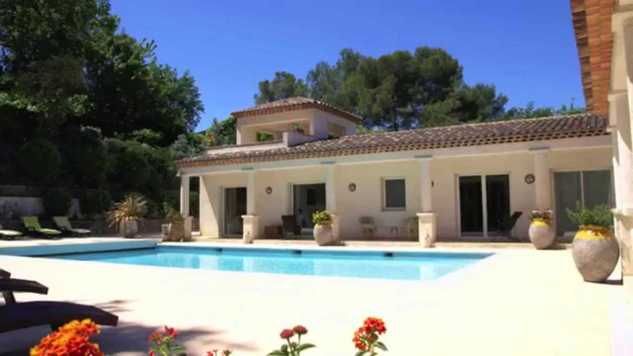 val de mougins vente villa proven ale moderne piscine 300 m youtube. Black Bedroom Furniture Sets. Home Design Ideas