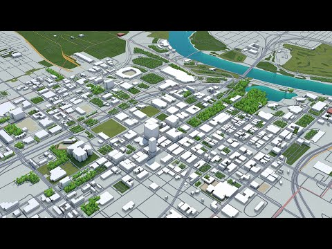 Omaha City Nebraska 3d model