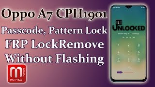 Oppo A1k CPH1923 Passcode Remove And Factory Reset Done