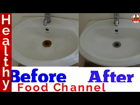 How to clean wash basin | How to clean wash basin in tamil | Cleaning Tips in Tamil | Healthy Food