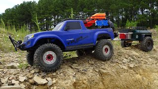 TRX4 SPORT ADDED BED RACK NEW REAR BUMPER W TH H TCH AND SPARE T RE M RRORS AND SNORKEL