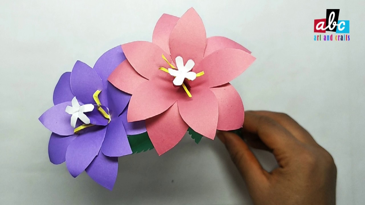 How To Make Paper Balloon Flower Youtube