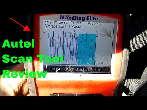 Autel MD802 Maxidiag Elite Full System And Live Data Review