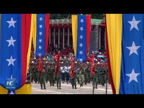 Maduro addresses independence parade, slams opposition leader