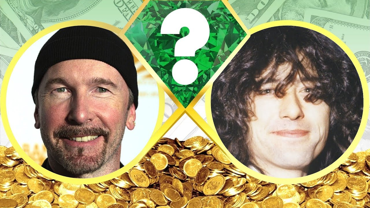 who u2019s richer  - the edge or jimmy page