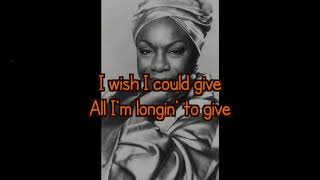 I Wish I Knew How it Would Feel to be Free | Nina Simone