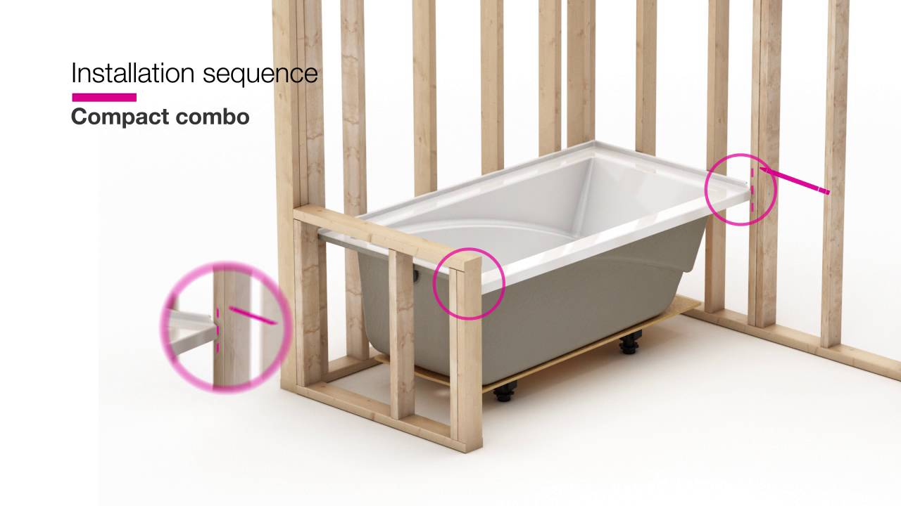 MAAX ModulR U2014 Combo Shower And Bathtub Installation   YouTube