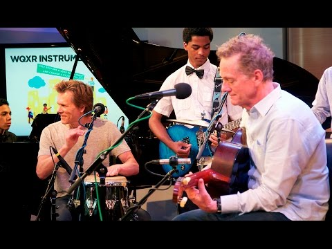 Kevin & Michael Bacon Celebrate the WQXR Instrument Drive