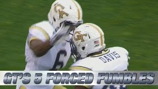 Georgia Tech Forces and Recovers 5 Fumbles in the 1st Quarter vs Pitt