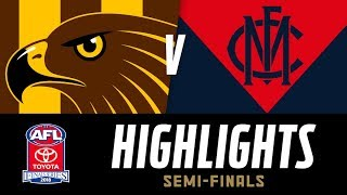 Hawthorn v Melbourne Highlights | Semi Final, 2018 | AFL