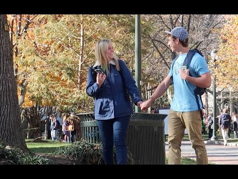 Holding People's Hand Prank