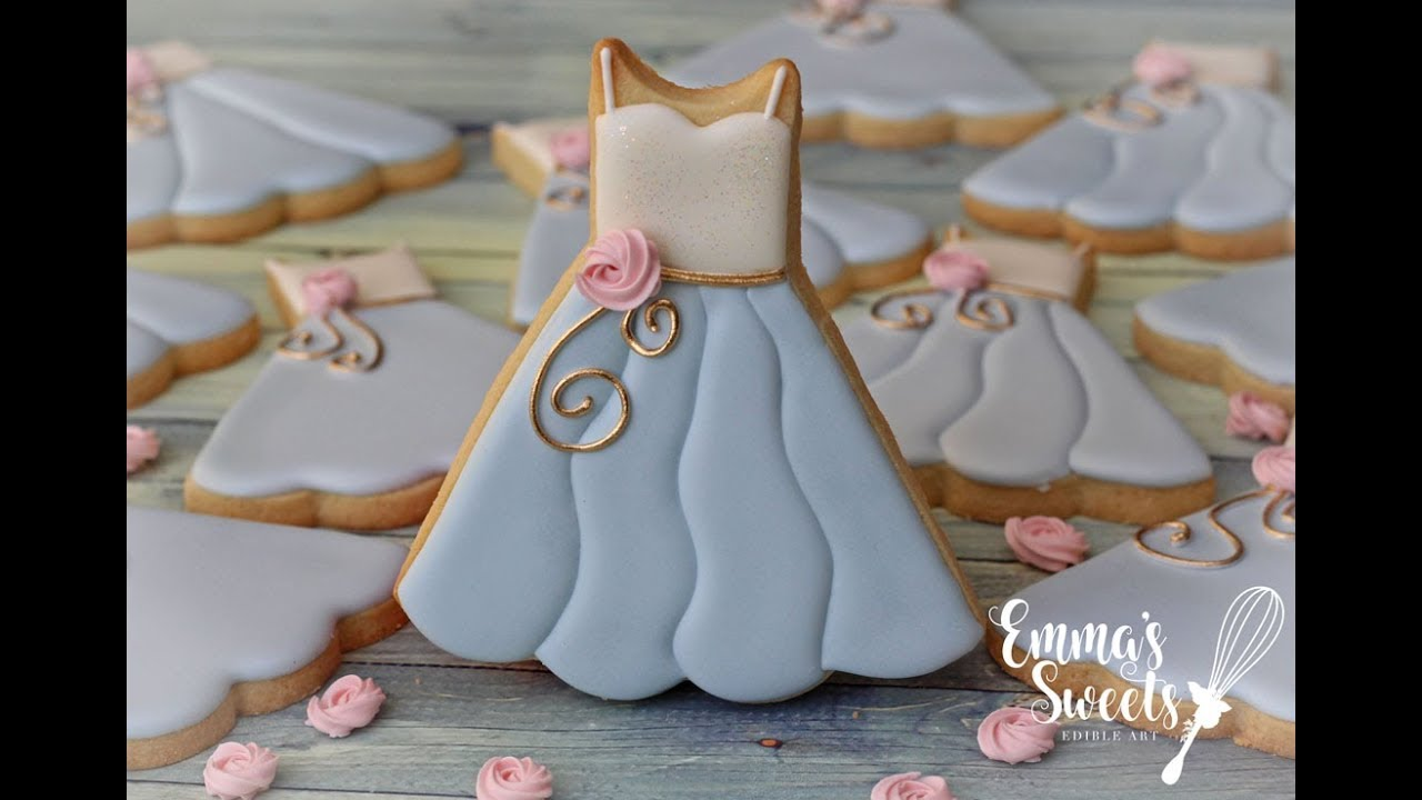 How To Make Bridesmaid Dress Cookies By Emma S Sweets