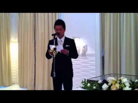 乾杯 結婚 挨拶 式