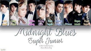 Super Junior (슈퍼주니어) – Midnight Blues (춤을 춘다) (Color Coded Lyrics) [Han/Rom/Eng]