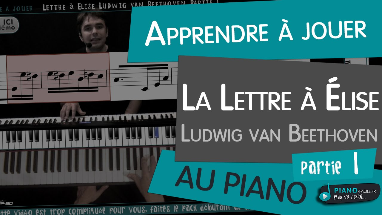 Apprendre Lettre à Elise Beethoven Tuto Piano Partie 1