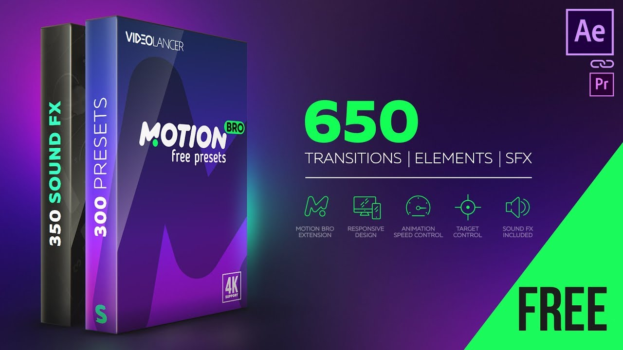 Free Motion Bro Presets & Transitions - Free Download