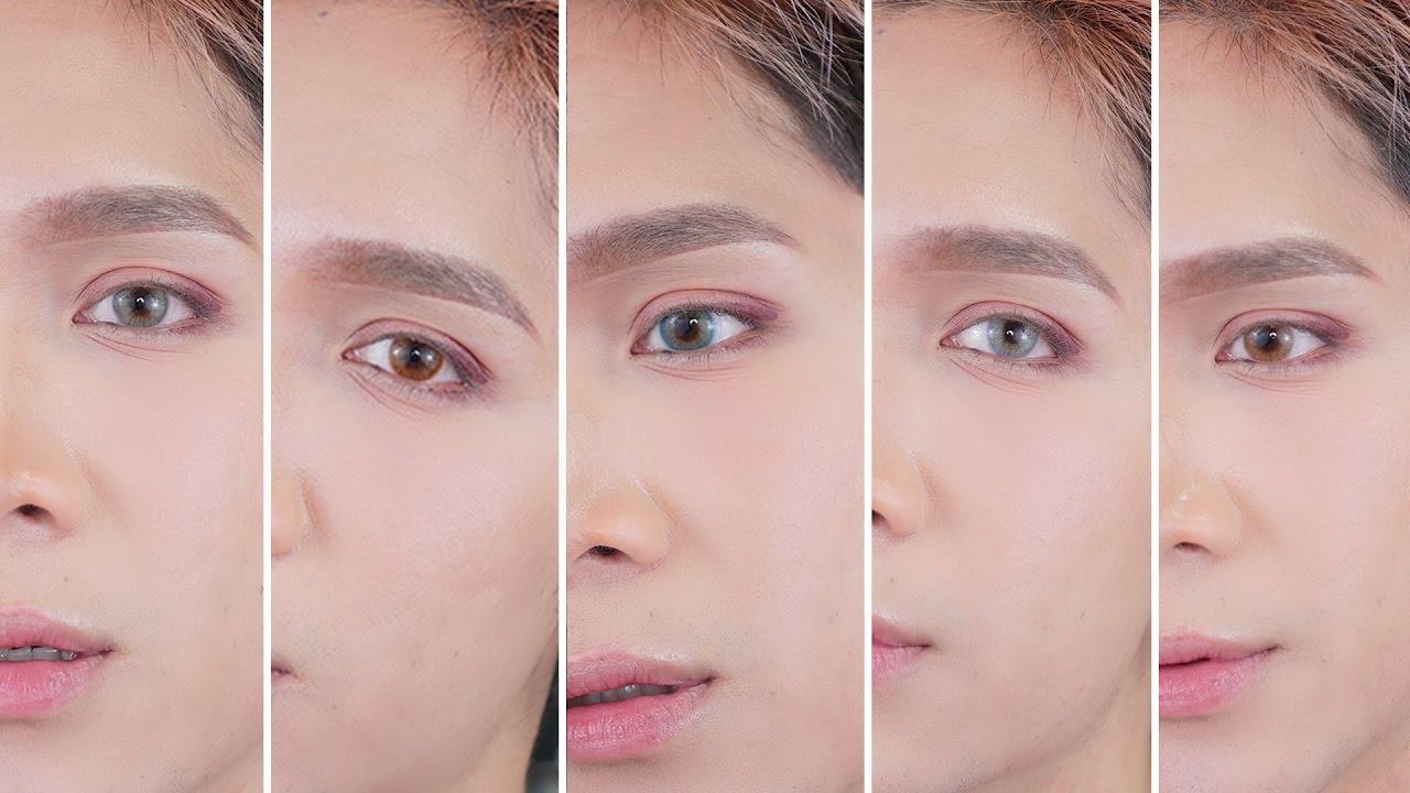 Color Lens for Dark Eyes / Solotica Lens Dupe - Edward Avila - YouTube