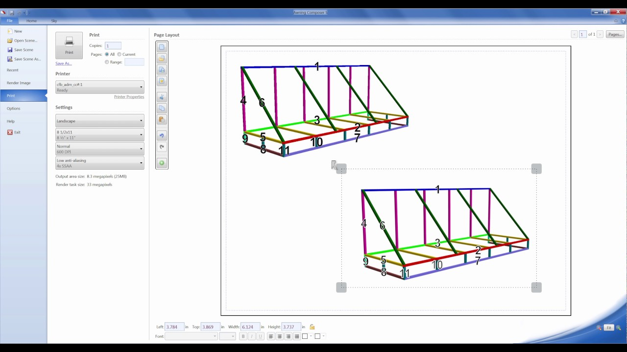 Awning Composer 5  Shop Drawing