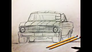 Como dibujar autos - ford falcon enfierrado