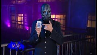 HOLE-Y CARD TRICK, MASKED MAN!