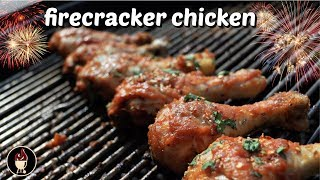 Firecracker Chicken On The Weber Charcoal Grill  Spicy Chicken Wing Recipe