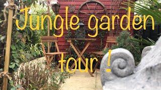 Tropical garden tour March! Jungle garden, secret garden, spring!