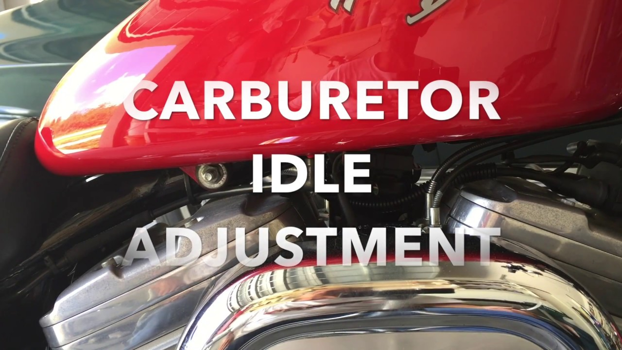 How To Adjust The Idle On All Harley Davidson Carburetor Motorcycle 1998 Dyna Wide Glide Starter Wiring Diagram