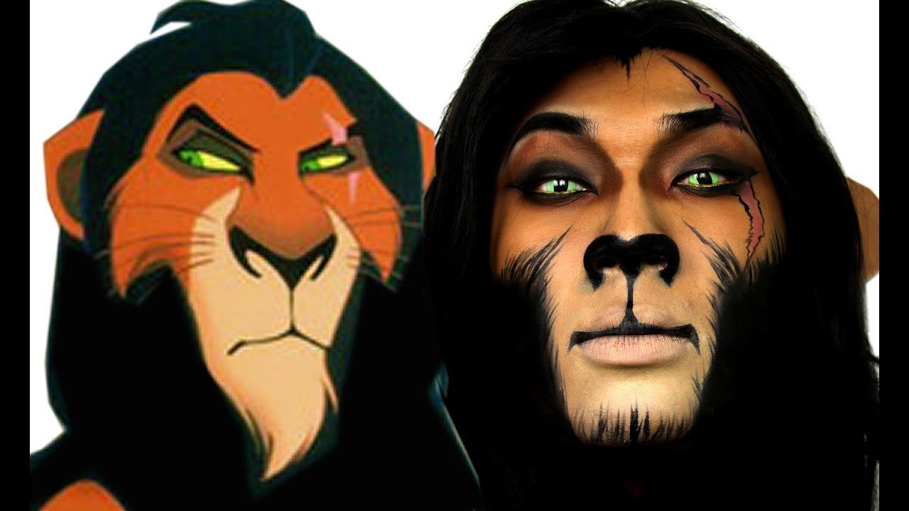 Scar Lion King Halloween Makeup Tutorial | ThePrinceOfVanity - YouTube