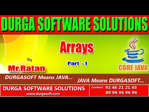 Core java || Arrays part -1 by Ratan