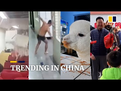 Trending in China:  Firefighter sprints out of shower after hearing siren