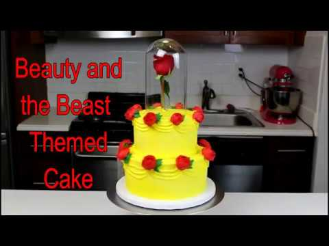 How to Make A Beauty and the Beast Themed Cake CHELSWEETS YouTube