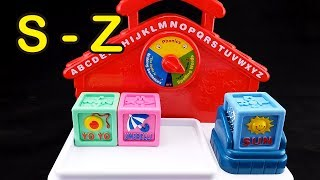 😀Go Grow Fun😀 EP41 Learning Alphabet & Words with Talking Block (S to Z)
