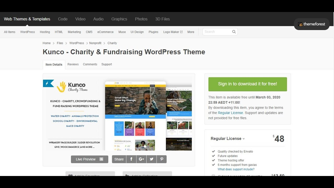 Download Weestand - Charity Fundraising WordPress Theme