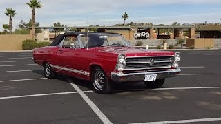 1966 Ford Fairlane GTA Convertible in Red Paint & Engine Sound on My Car Story with Lou Costabile