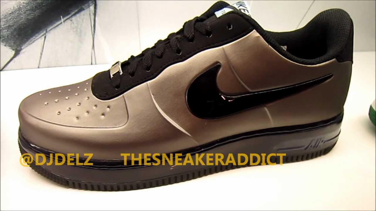 4cea05fe4755f Nike Air Force One Foamposite Low Pewter Sneaker Review With  DjDelz -  YouTube