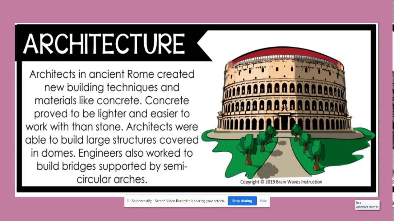 Roman Achievement architecturre - YouTube