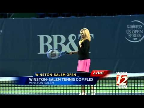 Kimberly tries her skills at the Winston-Salem Open