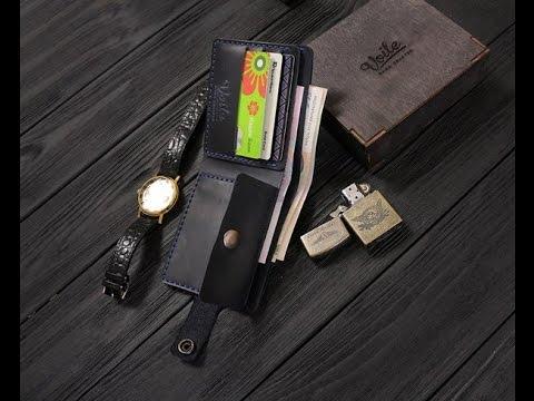 Недорогой мужской кошелёк, бумажник или портмоне из ПУ кожи .