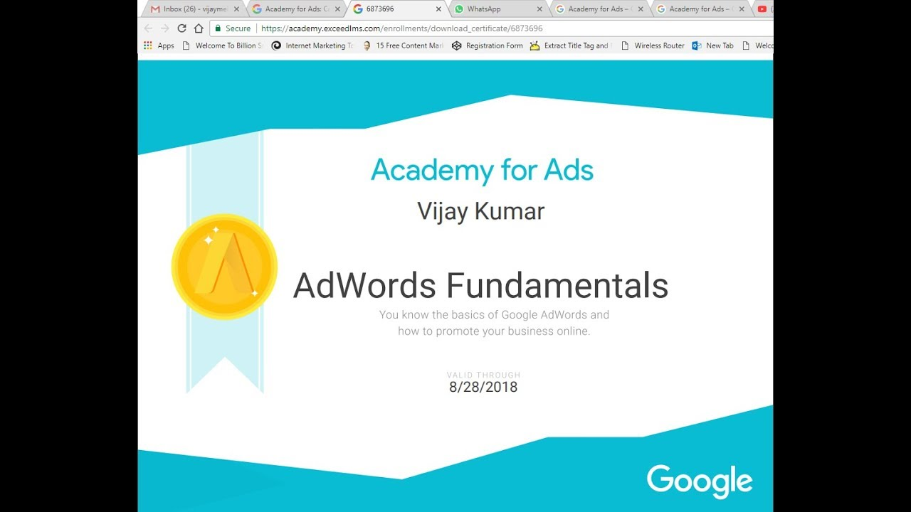Adwords Certifications Academy For Ads New Place To Take Adwords