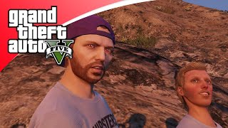 GTA V Online - EXTREME DOWNHILL FIETSERS BOB & TEUN! (GTA 5 Freeroam, Roleplay)