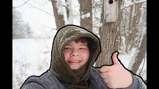 Feeding The Birds And Enjoying A Winter Wonderland