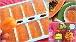 How to get healthy, glowing, spotless skin fast||Best papaya fruit facial massaging cream at home||