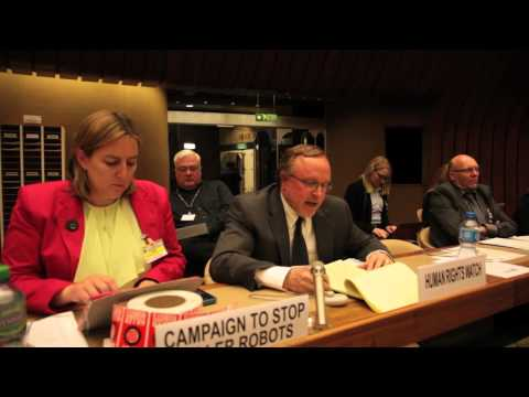 Steve Goose, Human Rights Watch addresses 2015 UN meeting on killer robots