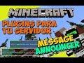 Minecraft: Plugins para tu Servidor - MessageAnnouncer (Anuncios Personalizados)