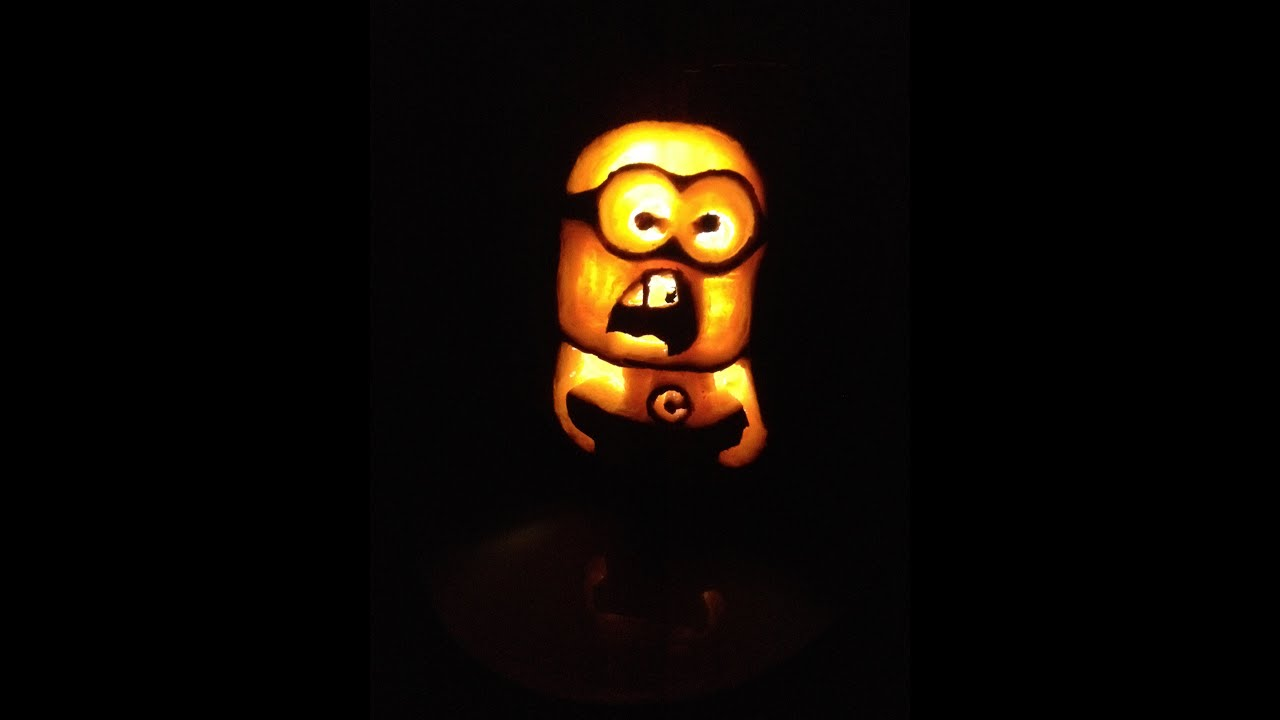 how to carve a minion pumpkin for halloween! easy carving withhow to carve a minion pumpkin for halloween! easy carving with shading!